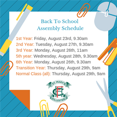 Back to School Schedule